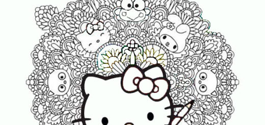 ausmalbilder hello kitty mit freunden-36