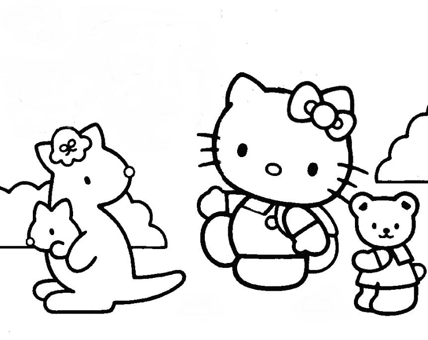 ausmalbilder hello kitty mit freunden-37