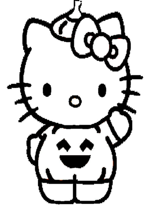 ausmalbilder halloween hello kitty-24