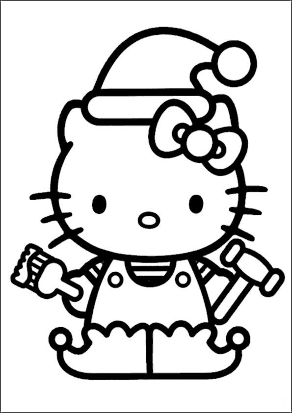 ausmalbilder weihnachten hello kitty-37