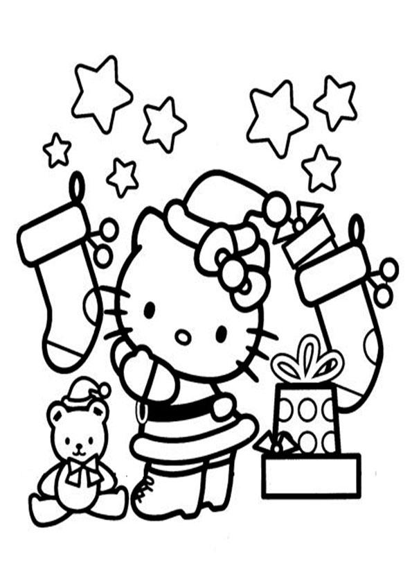 ausmalbilder weihnachten hello kitty, malvorlagen hello kitty-38