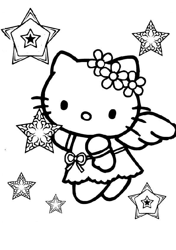 ausmalbilder  weihnachten hello kitty-39
