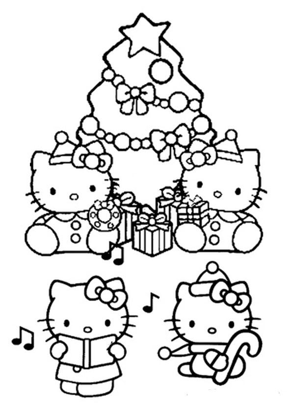 ausmalbilder weihnachten hello kitty-40