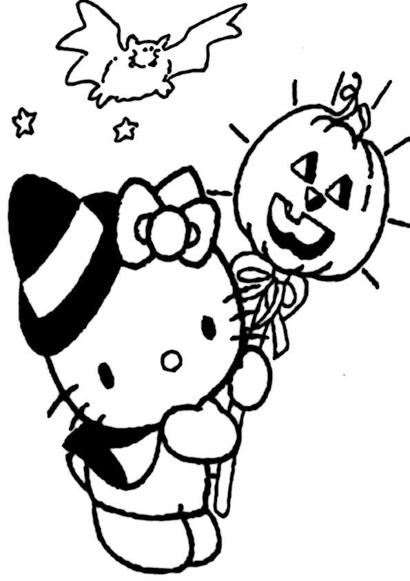 ausmalbilder halloween hello kitty-26