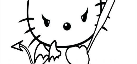ausmalbilder halloween hello kitty-27