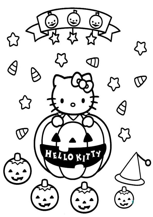 ausmalbilder halloween hello kitty-29