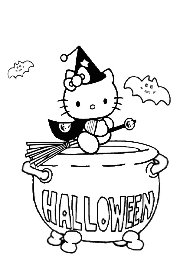 ausmalbilder halloween hello kitty -30