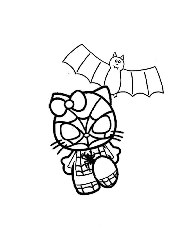 ausmalbilder halloween hello kitty-31