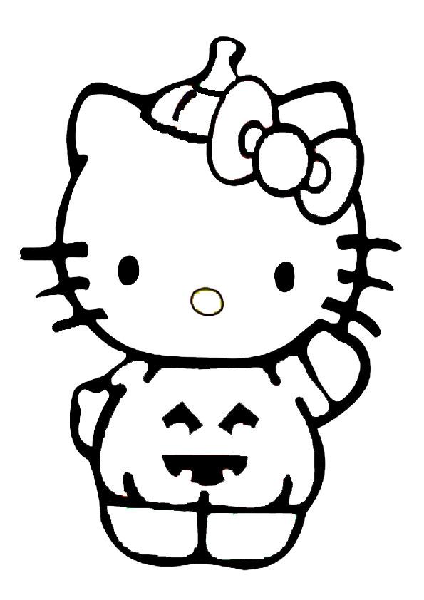 ausmalbilder halloween hello kitty-33