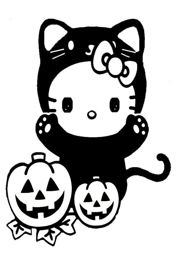 ausmalbilder halloween hello kitty-34